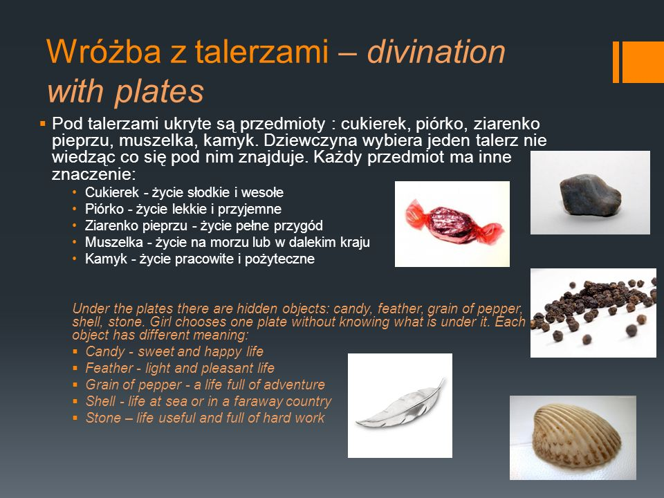 Wróżba z talerzami – divination with plates