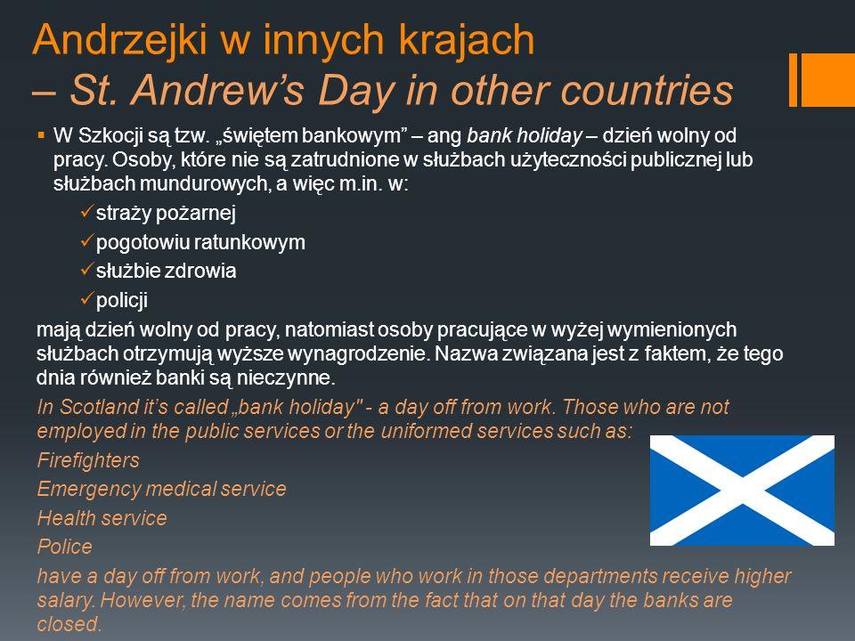Andrzejki w innych krajach – St. Andrew's Day in other countries