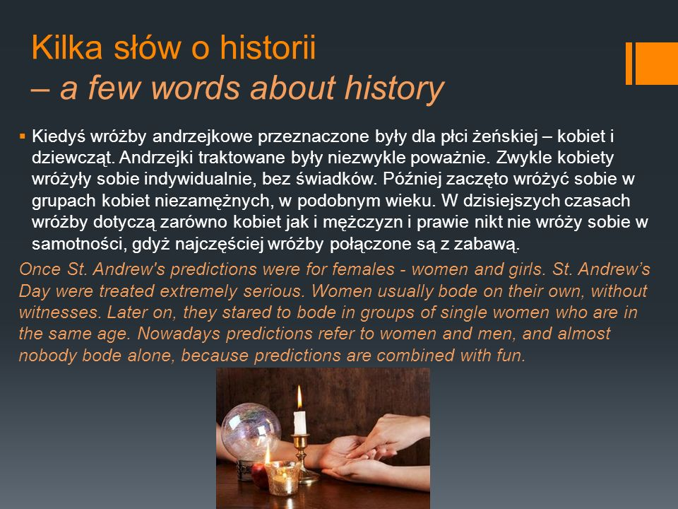 Kilka słów o historii – a few words about history