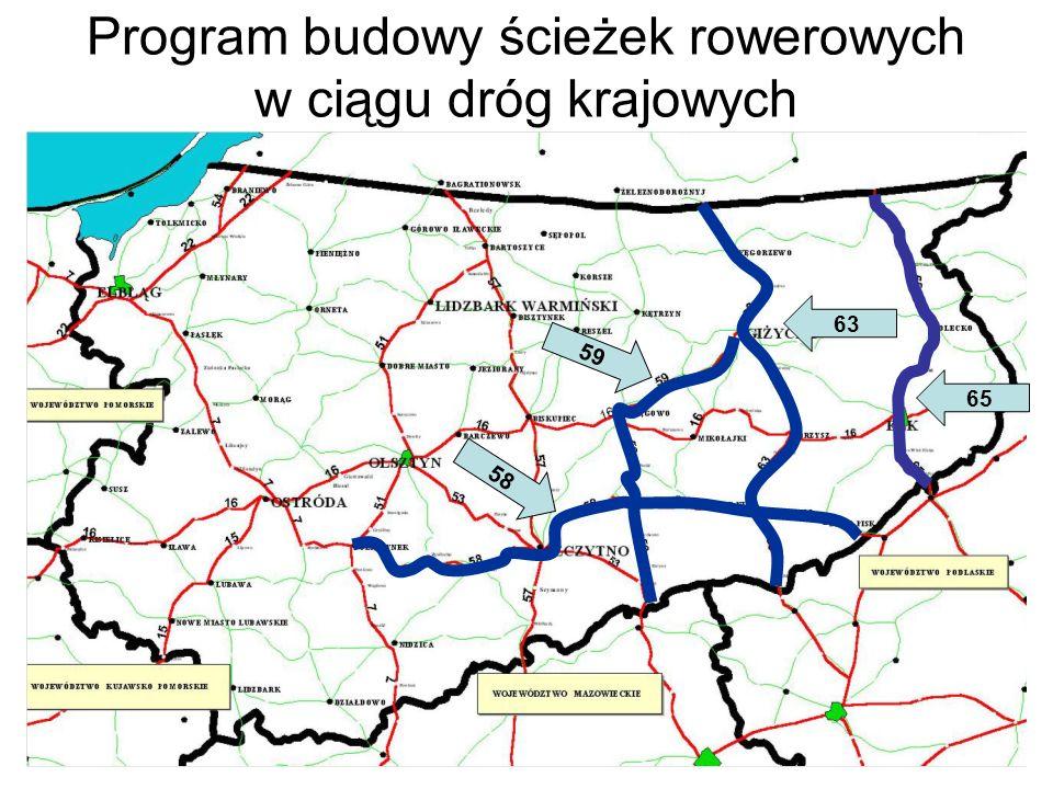 Program budowy ścieżek rowerowych w ciągu dróg krajowych