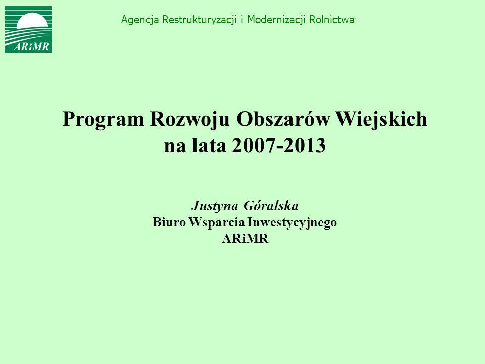 Program Rozwoju Obszarów Wiejskich Biuro Wsparcia Inwestycyjnego