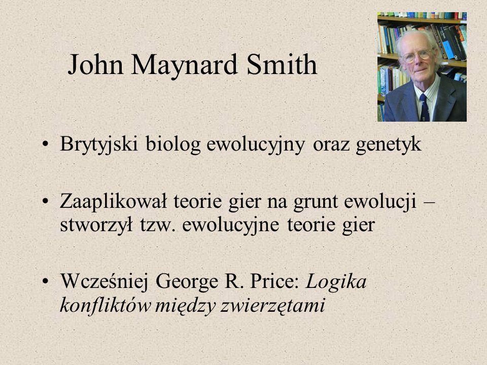 John Maynard Smith Brytyjski biolog ewolucyjny oraz genetyk
