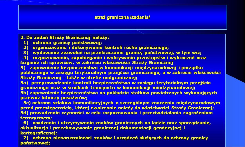 straż graniczna /zadania/