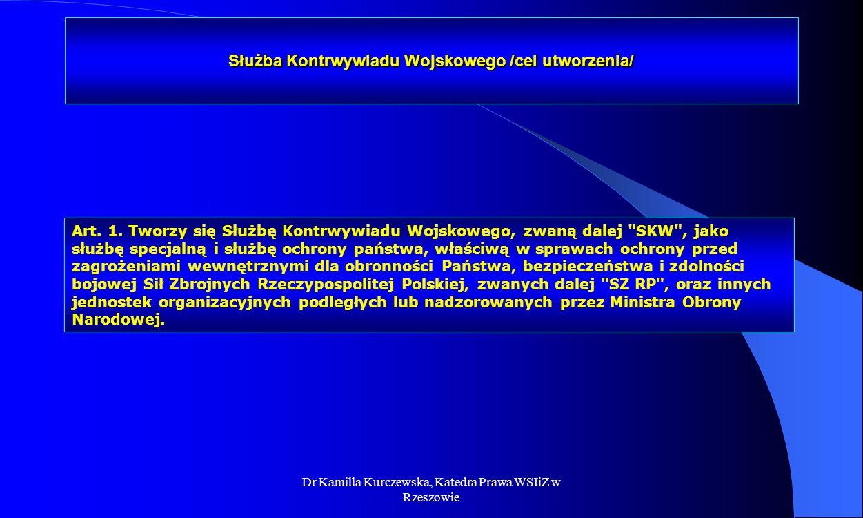 Służba Kontrwywiadu Wojskowego /cel utworzenia/