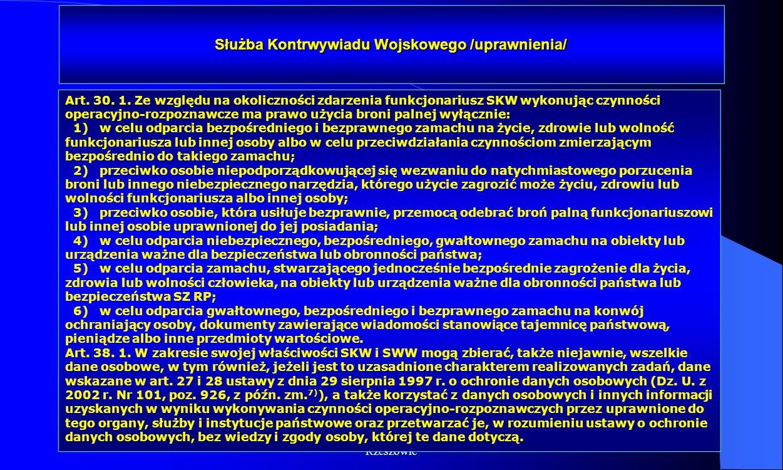 Służba Kontrwywiadu Wojskowego /uprawnienia/