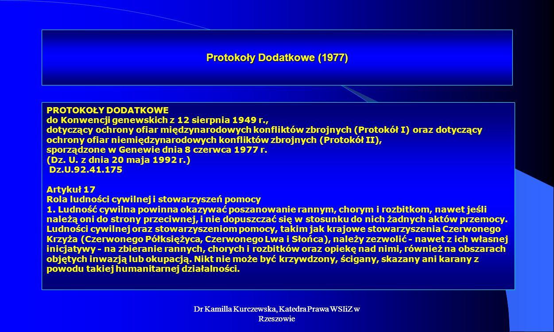 Protokoły Dodatkowe (1977)