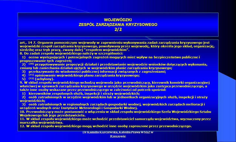 WOJEWÓDZKI ZESPÓŁ ZARZĄDZANIA KRYZYSOWEGO 2/2
