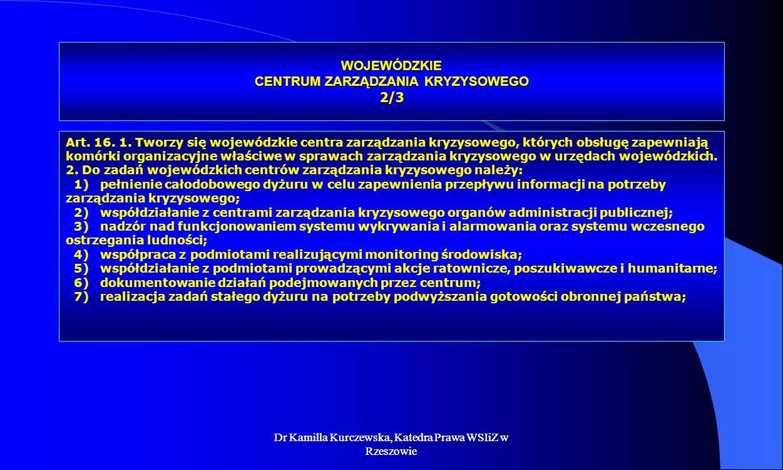 WOJEWÓDZKIE CENTRUM ZARZĄDZANIA KRYZYSOWEGO 2/3