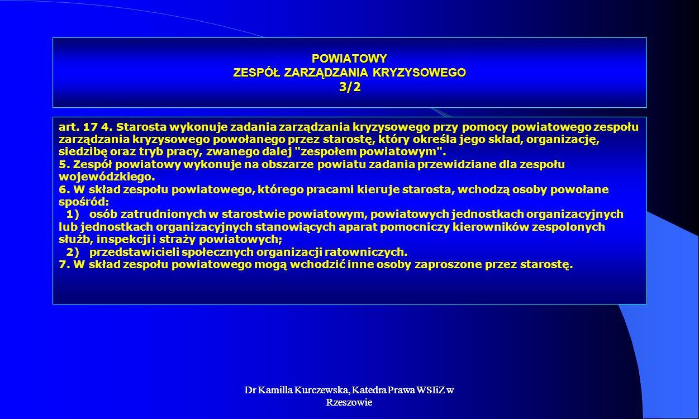 POWIATOWY ZESPÓŁ ZARZĄDZANIA KRYZYSOWEGO 3/2