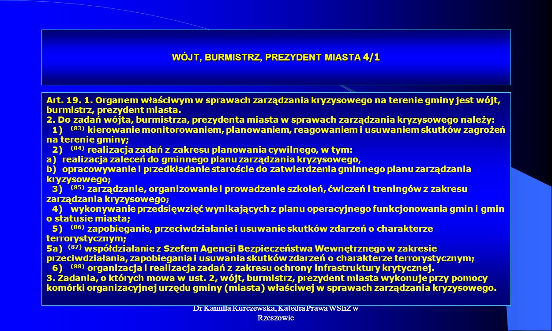 WÓJT, BURMISTRZ, PREZYDENT MIASTA 4/1