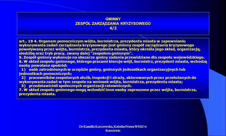 GMINNY ZESPÓŁ ZARZĄDZANIA KRYZYSOWEGO 4/2