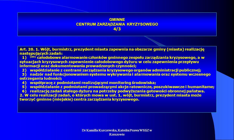 GMINNE CENTRUM ZARZĄDZANIA KRYZYSOWEGO 4/3