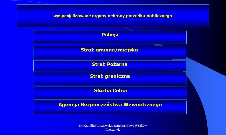 wyspecjalizowane organy ochrony porządku publicznego