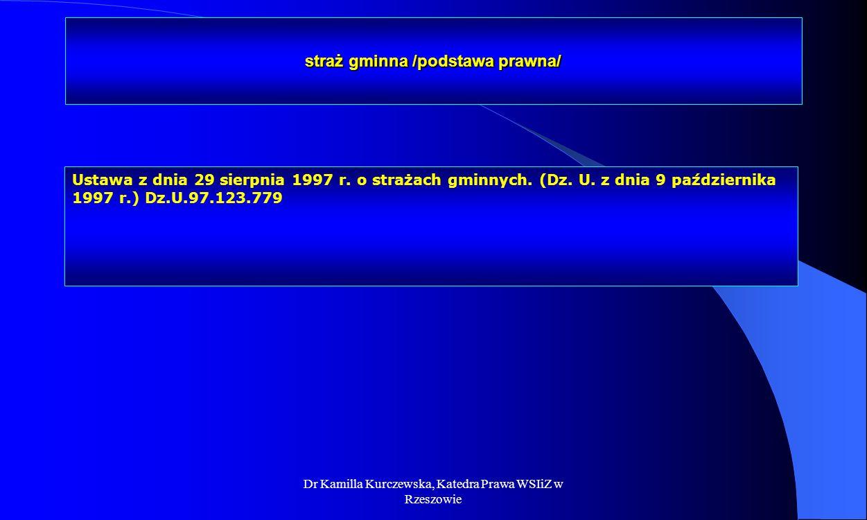 straż gminna /podstawa prawna/
