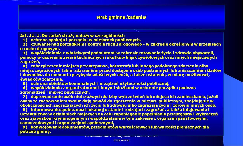 straż gminna /zadania/