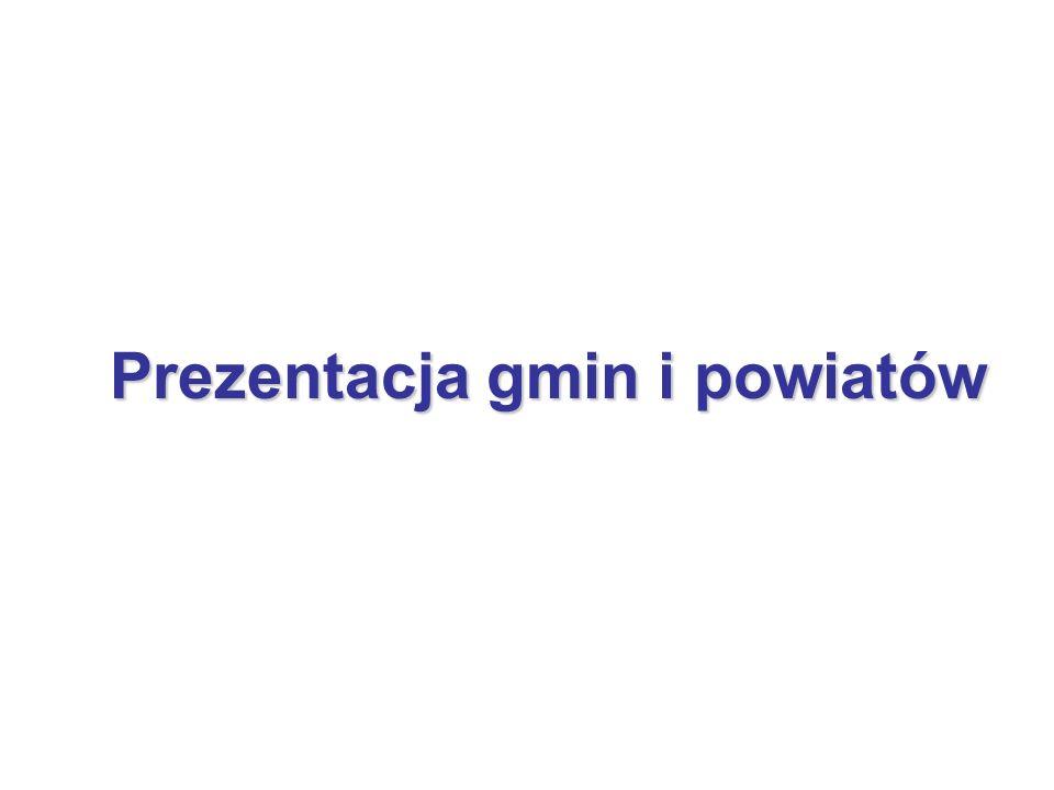 Prezentacja gmin i powiatów