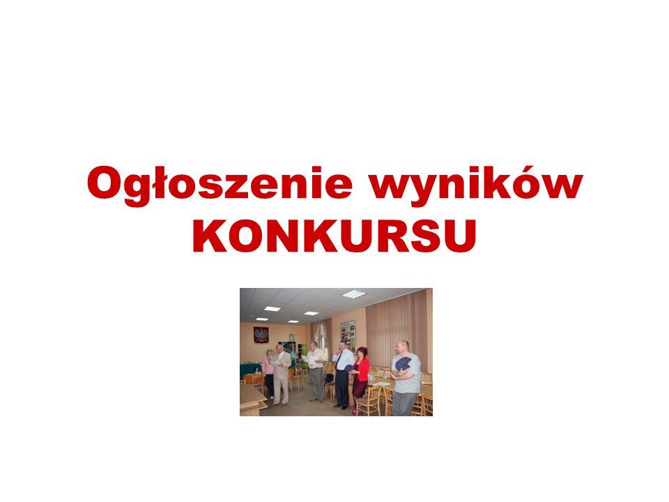 Ogłoszenie wyników KONKURSU