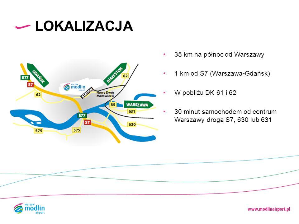LOKALIZACJA 35 km na północ od Warszawy 1 km od S7 (Warszawa-Gdańsk)