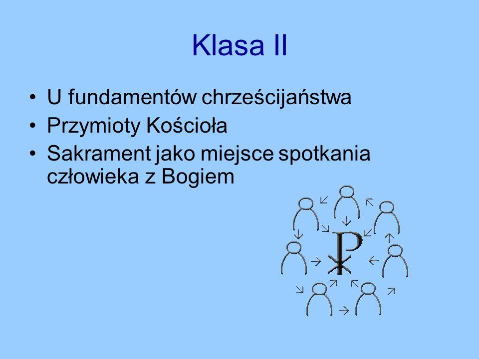 Klasa II U fundamentów chrześcijaństwa Przymioty Kościoła