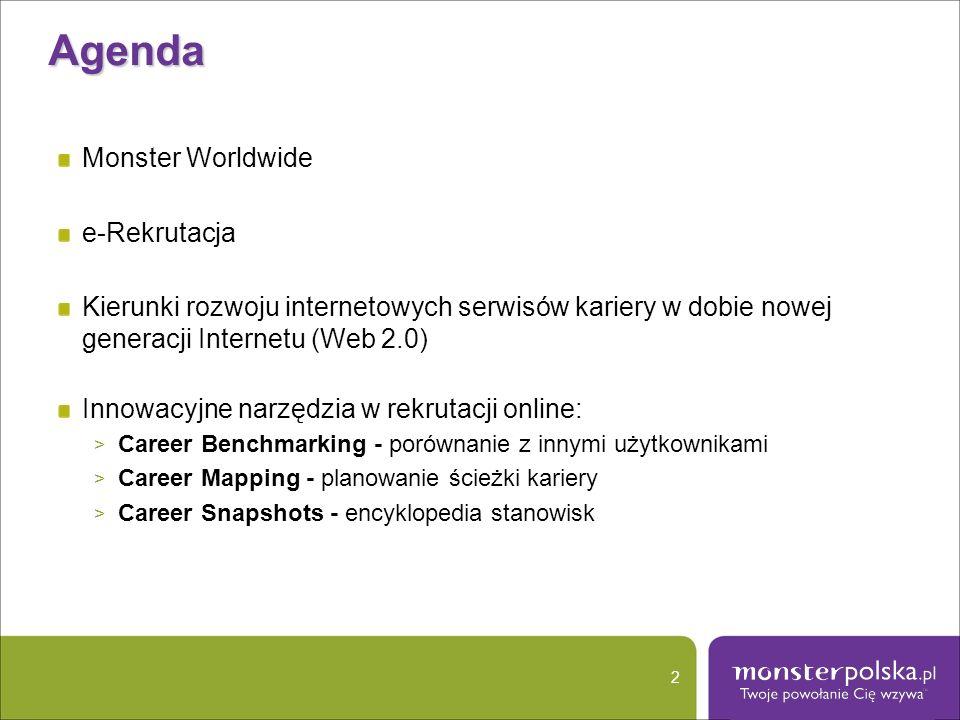 Agenda Monster Worldwide e-Rekrutacja