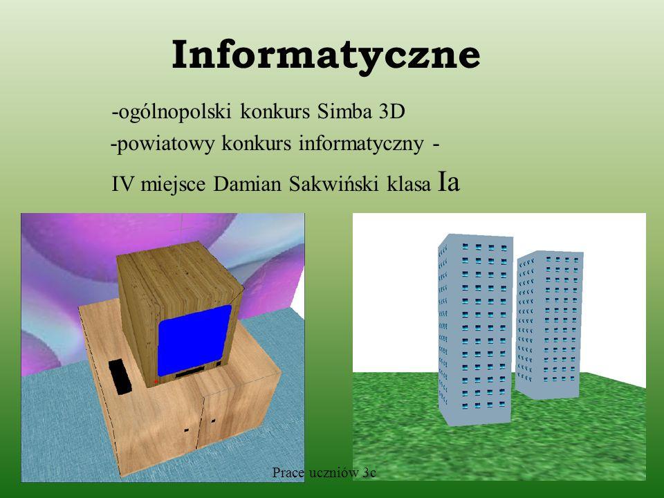 Informatyczne -ogólnopolski konkurs Simba 3D