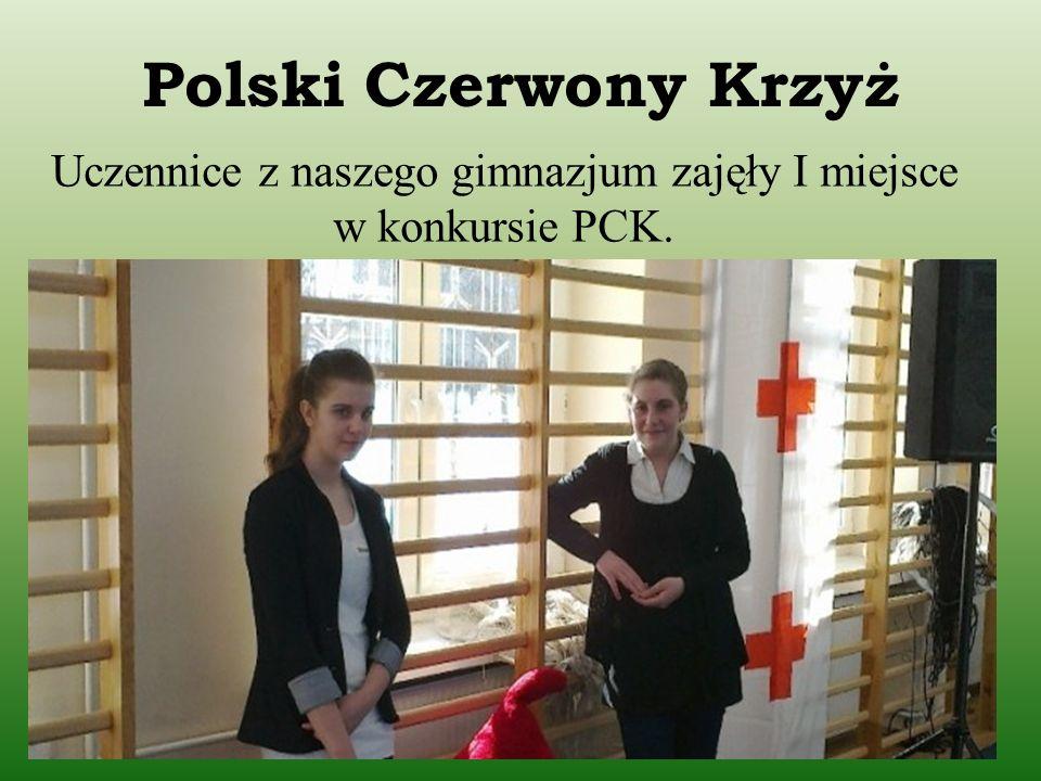 Uczennice z naszego gimnazjum zajęły I miejsce w konkursie PCK.