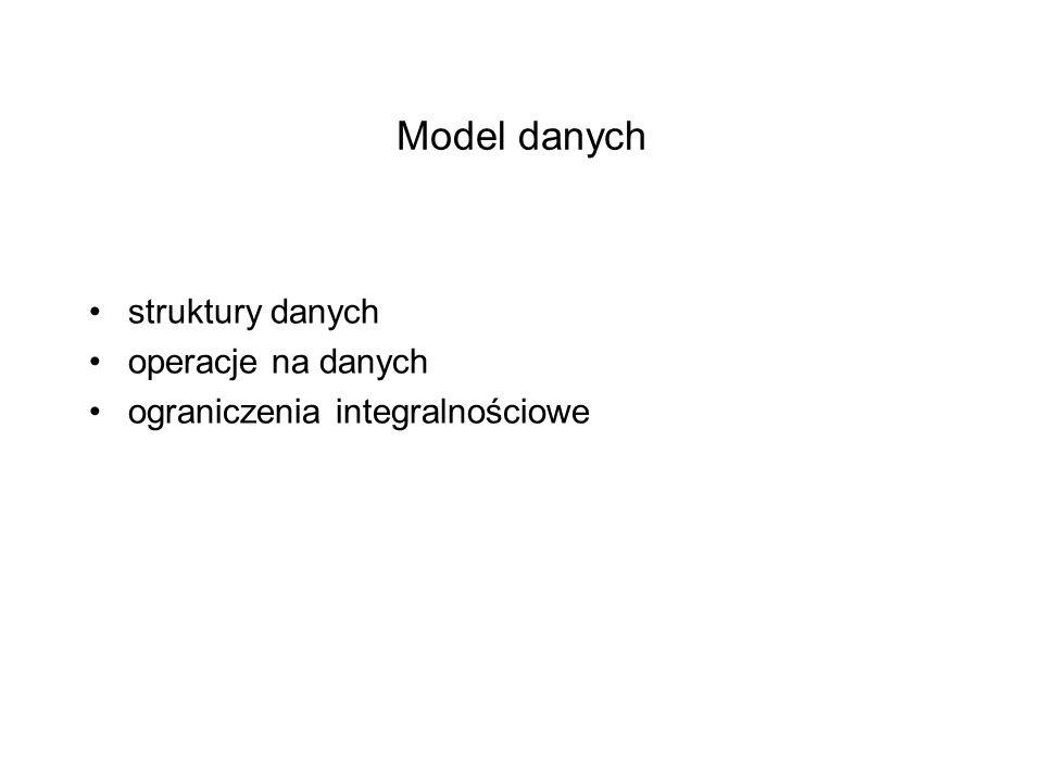 Model danych struktury danych operacje na danych