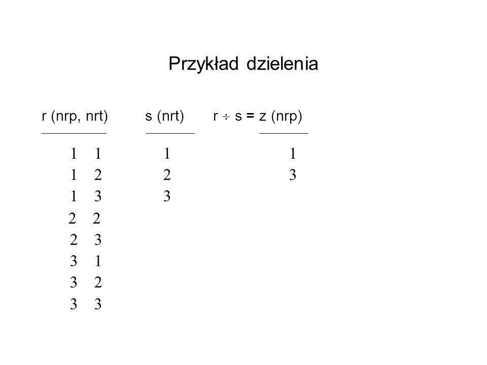 Przykład dzielenia ———— ——— ——— 1 1 1 1 1 2 2 3 1 3 3 2 2 2 3 3 1 3 2
