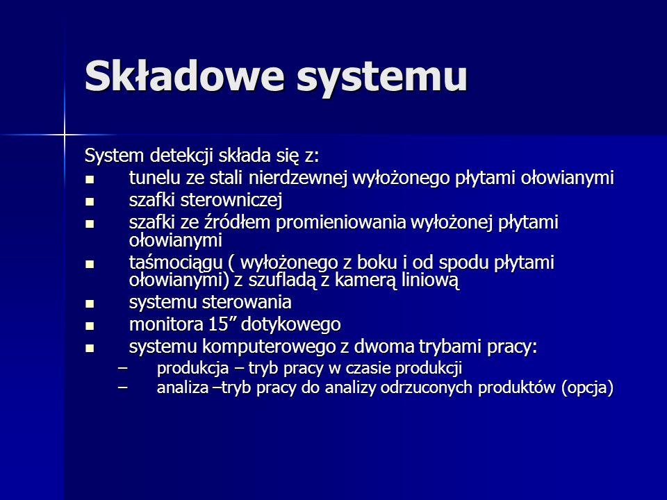 Składowe systemu System detekcji składa się z: