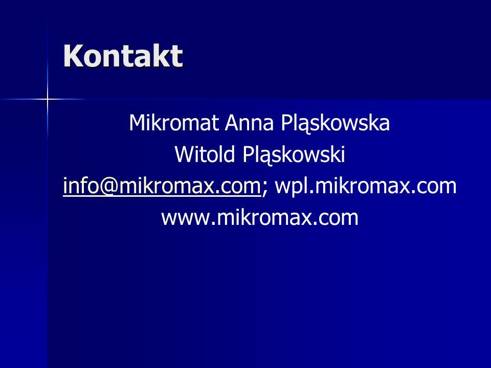 Kontakt Mikromat Anna Pląskowska Witold Pląskowski