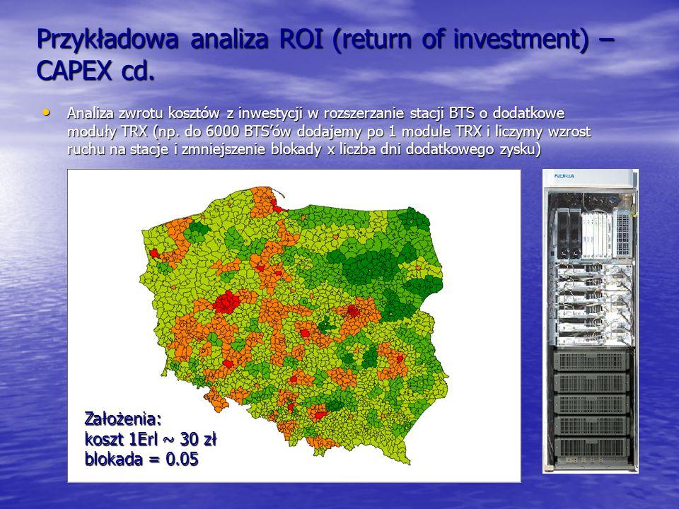 Przykładowa analiza ROI (return of investment) – CAPEX cd.