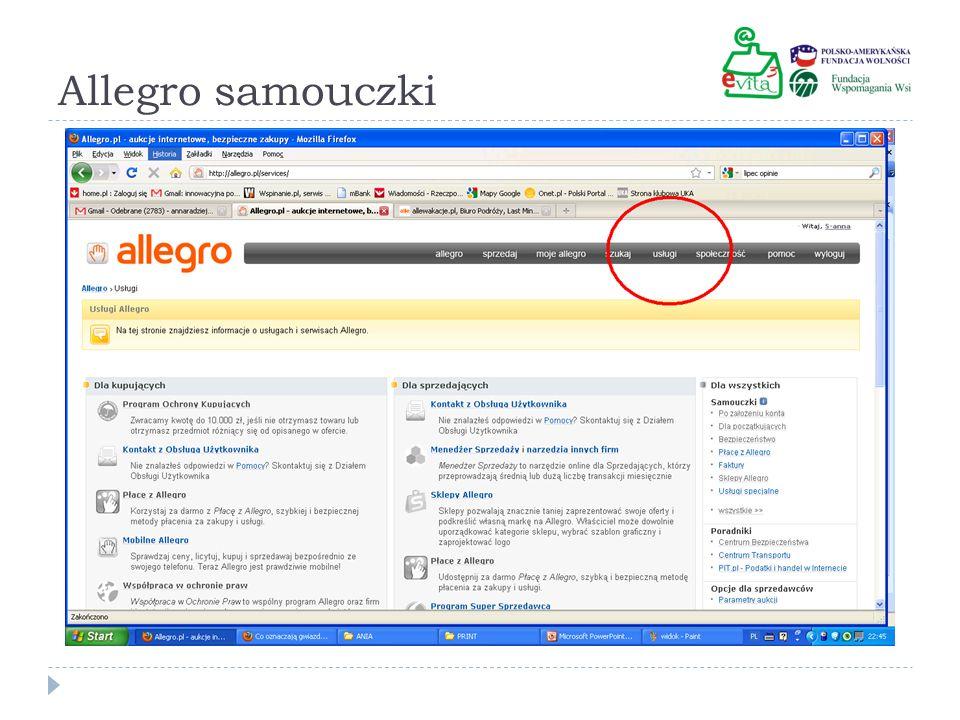 Allegro samouczki