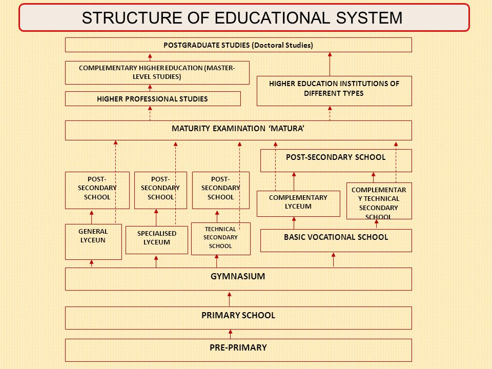 STRUCTURE OF EDUCATIONAL SYSTEM