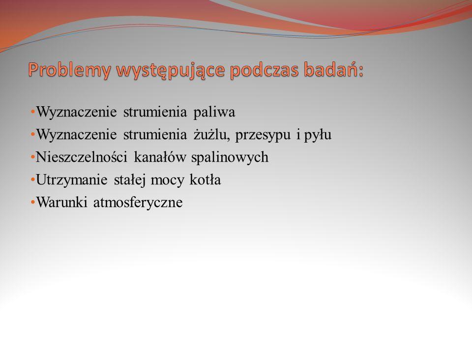 Problemy występujące podczas badań: