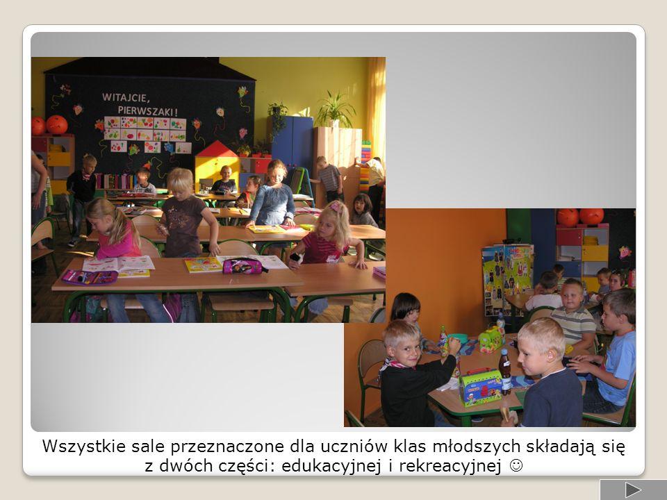 Wszystkie sale przeznaczone dla uczniów klas młodszych składają się
