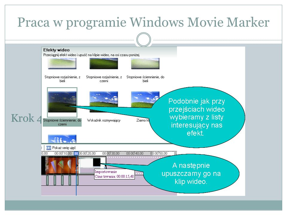 Praca w programie Windows Movie Marker