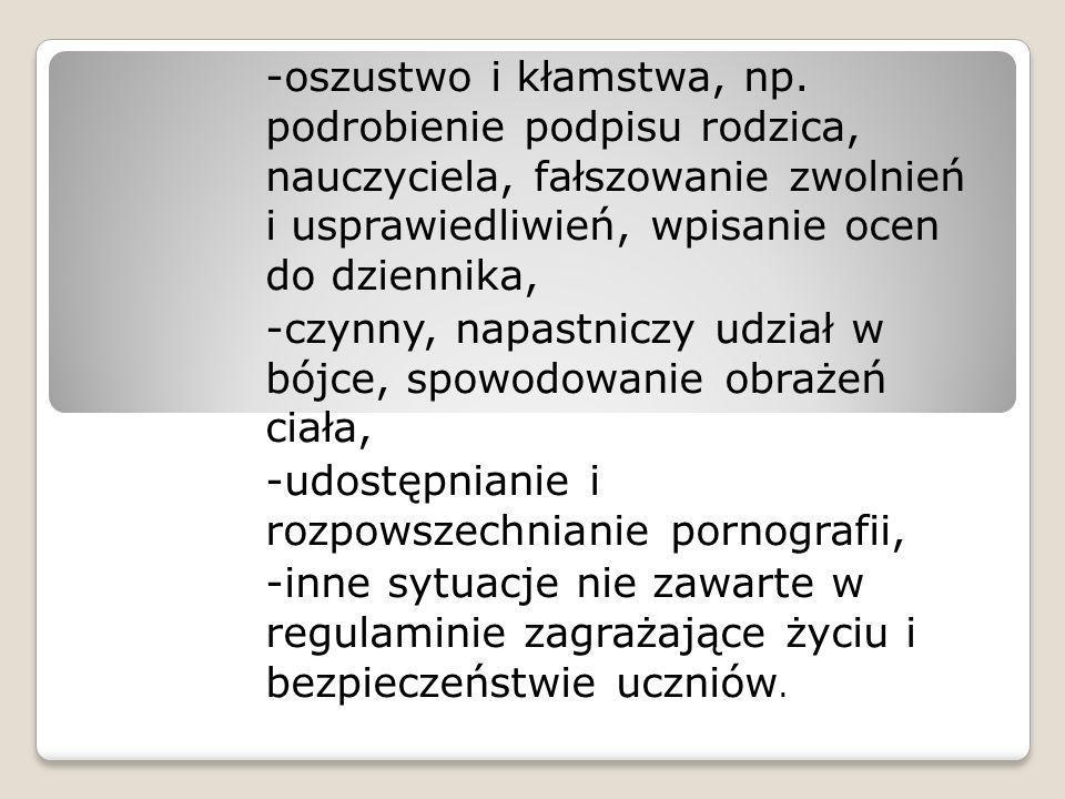 -oszustwo i kłamstwa, np