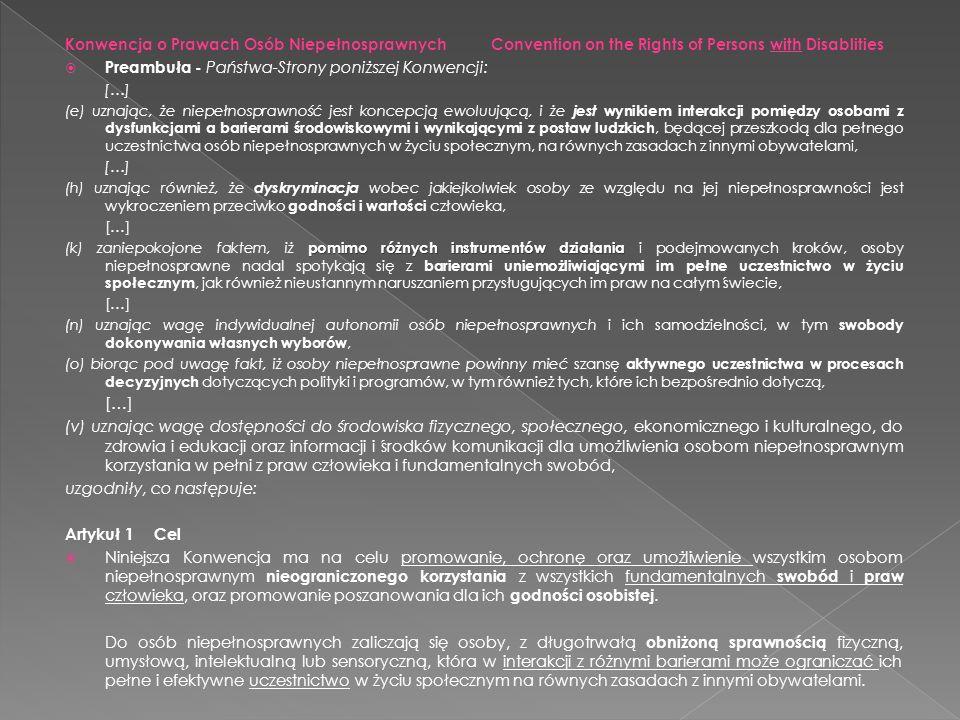Preambuła - Państwa-Strony poniższej Konwencji: