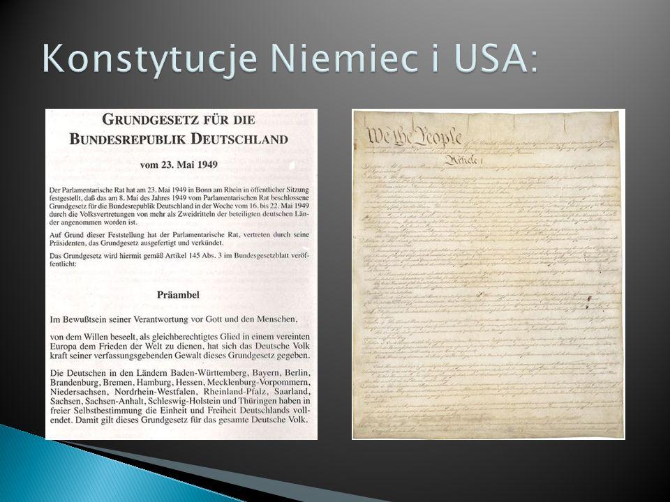 Konstytucje Niemiec i USA: