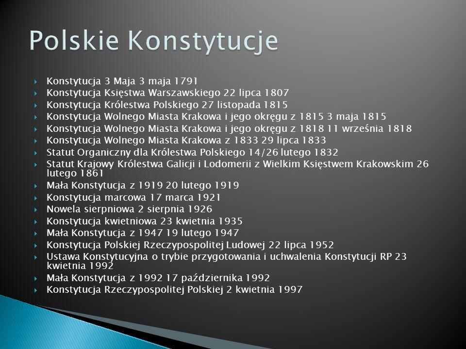 Polskie Konstytucje Konstytucja 3 Maja 3 maja 1791