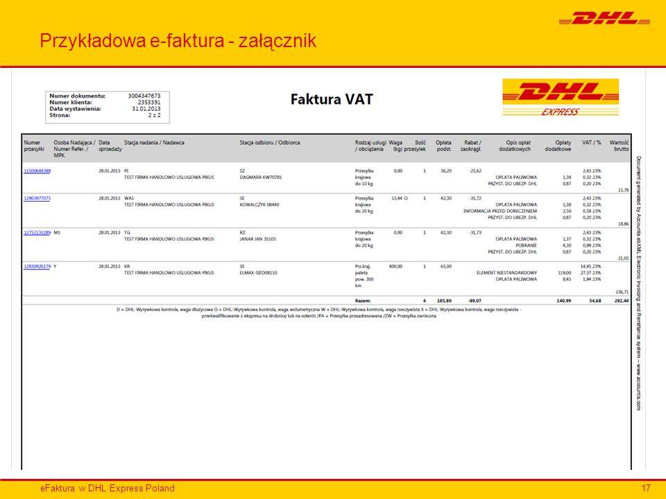 Przykładowa e-faktura - załącznik