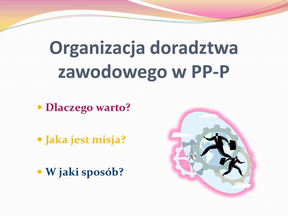 Organizacja doradztwa zawodowego w PP-P
