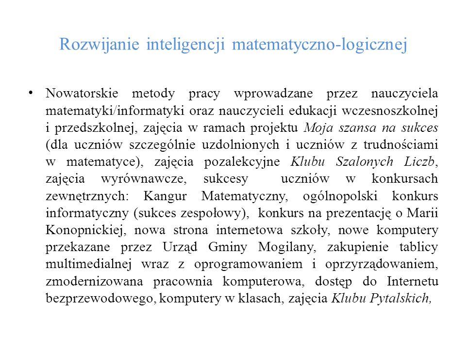 Rozwijanie inteligencji matematyczno-logicznej