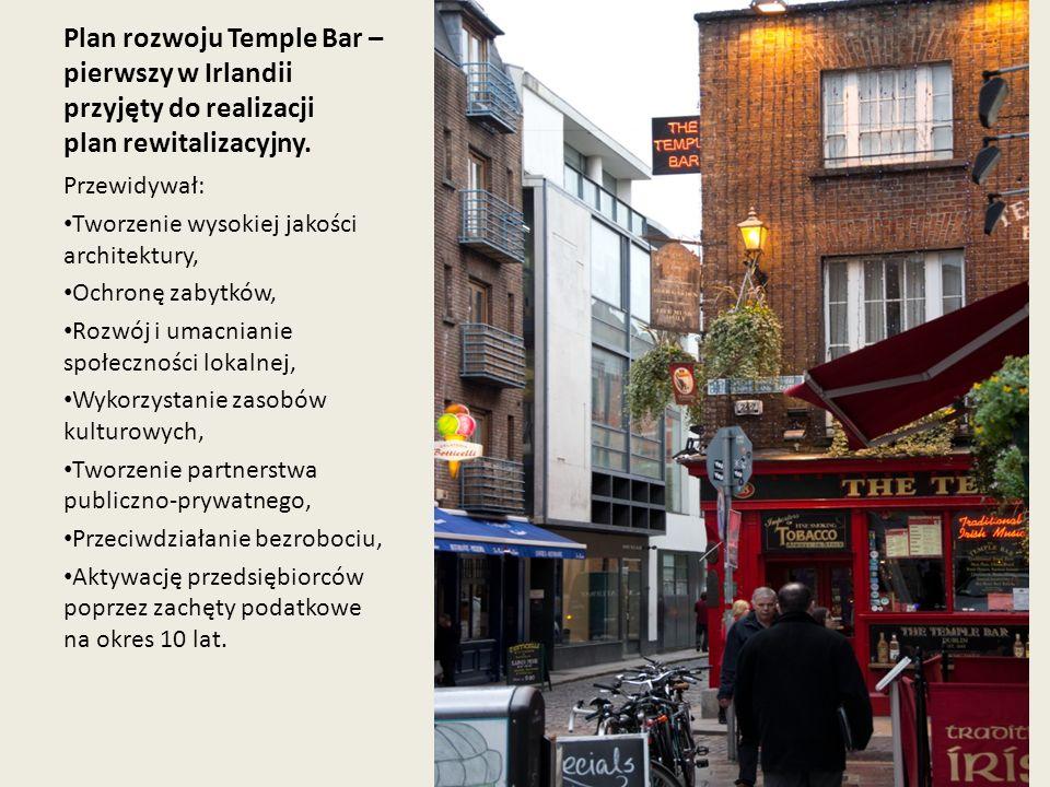 Plan rozwoju Temple Bar – pierwszy w Irlandii przyjęty do realizacji plan rewitalizacyjny.