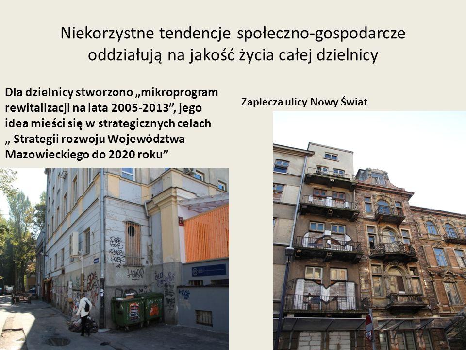 Niekorzystne tendencje społeczno-gospodarcze oddziałują na jakość życia całej dzielnicy