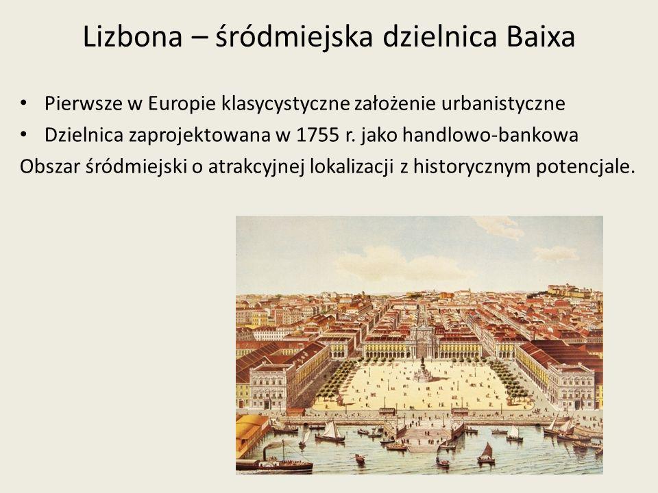 Lizbona – śródmiejska dzielnica Baixa