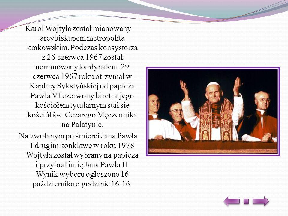 Karol Wojtyła został mianowany arcybiskupem metropolitą krakowskim