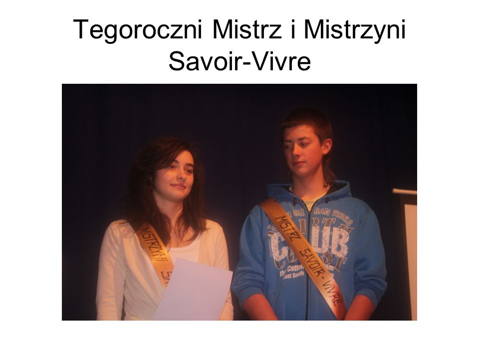 Tegoroczni Mistrz i Mistrzyni Savoir-Vivre
