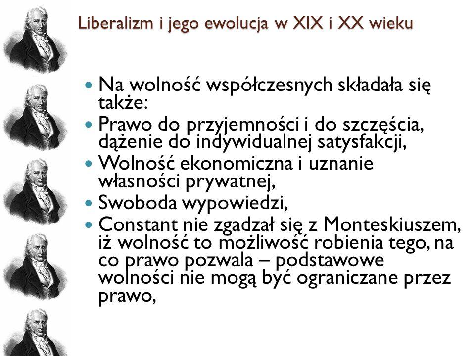 Liberalizm i jego ewolucja w XIX i XX wieku