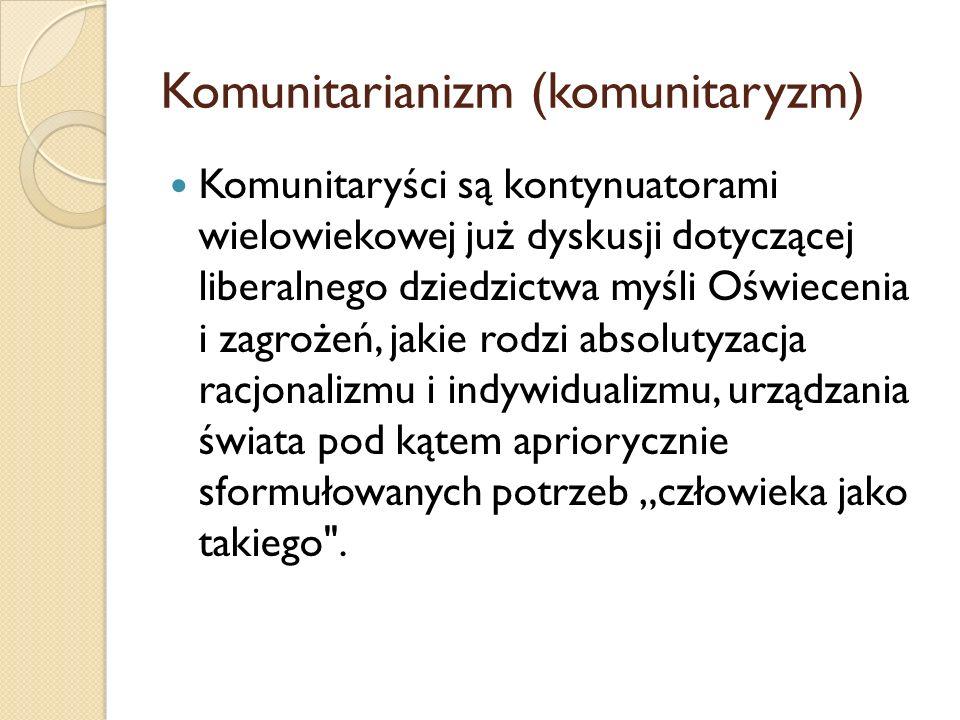 Komunitarianizm (komunitaryzm)
